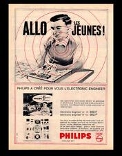 PUB  PUBLICITE / AD  PHILIPS Jouet - Les boîtes Electronic Engineer Vintage 1963