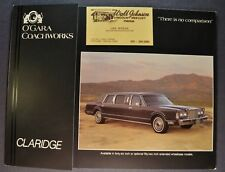 1986 O'Gara Claridge Limousine Brochure Folder Lincoln Excellent Original 86