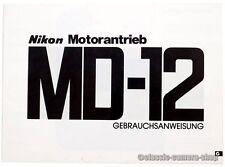 Nikon Bedienungsanleitung NIKON MOTORANTRIEB MD-12 User Manual Anleitung (X2536