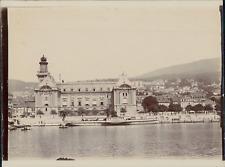 Suisse, Vue d'une ville depuis les rives, ca.1906, vintage citrate print Vi