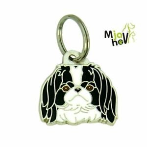 Dog ID Tag, Japanese spaniel - Chin, Personalised, Engraved, Handmade, Charm