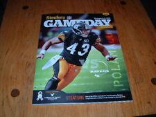 BALTIMORE RAVENS @ PITTSBURGH STEELERS GAMEDAY MAGAZINE PROGRAM 11/6/2011