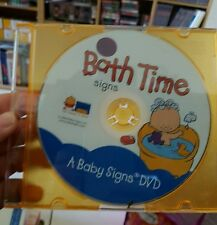 Bath Time Signs - A Baby signs DVD (disc only NTSC) DVD MOVIE - FREE POST