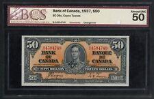 #BC-26c $50 BANK OF CANADA 1937 SERIES BCS 50 ALMOST UNC CV $750 HW3283
