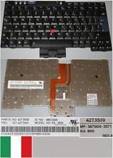 Teclado Qwerty Italiano Lenovo X60 X60S X61 X61S KS-90I0 MP-06786I0-3871 42T3509