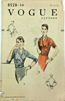 c1950's Vintage Sewing Pattern Vogue 8528 Ladies Blouse