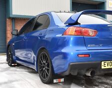 Rally Mudflaps Mitsubishi Evolution X Mud Flaps Black 4mm PVC Ralliart White R&O