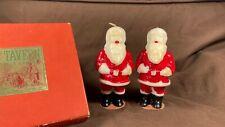Vintage Tavern Novelty Candles Santa With Box