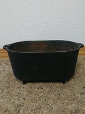 Vtg 8 IN CAST IRON FOOTED OVAL HAM BOILER ROASTER MARKED H. B. - 84 ??Griswold??
