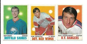 1970-71 OPC Hockey:Lot of 3 different