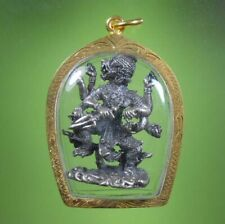 RARE STATUE IN PENDANT 'HANUMAN 8 HANDS LP PHOOL' CHARM THAI REAL !!!