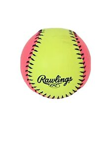 Rawlings Soft Indoor / Outdoor Training Softballs Pink Yellow Protac Single