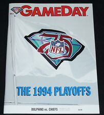 DAN MARINO vs JOE MONTANA final game 1994 Dolphins vs Chiefs PLAYOFF Program