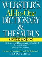 Webster's All-In-One Dictionary & Thesaurus, Hardcover by Merriam-Webster (ED...