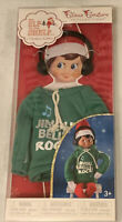 NEW!! Elf On The Shelf Claus Couture Jingle Bells Rock DJ Hoodie Outfit