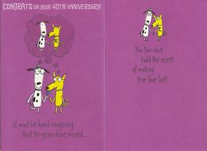 Hallmark 40th Ruby Anniversary Card From Friend/Family--Making True Love Last
