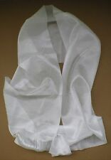 Tibetan Buddhist Silk Offering Scarf Kata WHITE