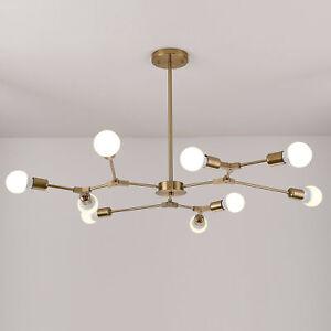 Mid Century Sputnik Golden Colour Branching Chandelier Pendant Light 6-9 Heads
