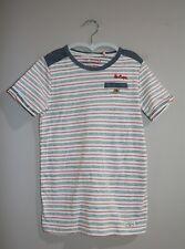 Lee Cooper Boys Striped Denim Trim Tee Size 7 BNWT #BOY1