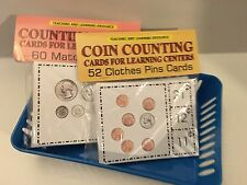 Two (2) Learning Centers cards Counting Coins & Money Counting Teaching supplies