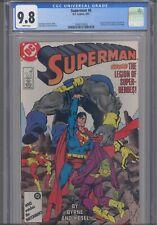 Superman #8 CGC 9.8 1987 DC Comics John Byrne Story, Cover FF 249 Cover Homage