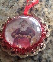 Santa Ornament  - Free Shipping