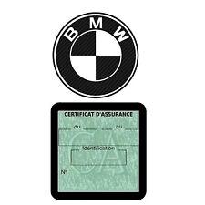 Etui assurance voiture BMW logo simple moins 4 Ans Stickers auto rétro