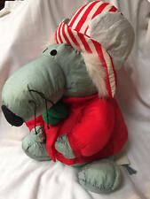 "Vintage MAISON BLANCHE 14"" Mouse Nylon Plush Christmas Band Leader Original Tags"