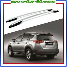 For 13-17 Toyota RAV4 OE Style Roof Rack Side Rails Bars Silver Pair Aluminum