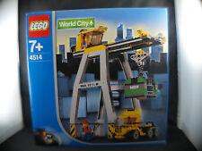 Lego 4514 World City Cargo crane grue Neuf mint en boite boxed