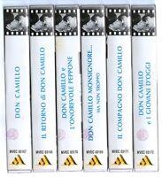 DON CAMILLO E PEPPONE - 6 VHS ORIGINALI - SERIE COMPLETA - CUSTODIE RIGIDE