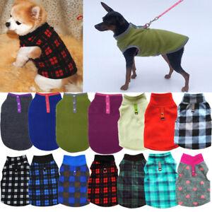 Pet Dog Puppy Winter Warm Fleece Jumper Vest Coat Jacket Apparel Clothes Outdoor