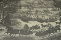 CENTRAL PARK IN WINTER Currier & Ives (American active New York 1857–1907) Print