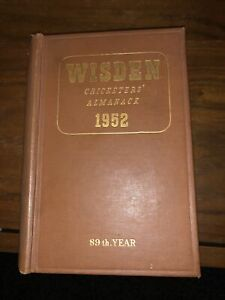 Wisden Cricketers' Almanack 1952 ORIGINAL hardback EXCELLENT cond.