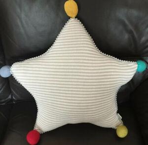 Mamas & Papas Big Top Tales Knitted 🌟 Star 🌟 Shaped Cushion 🌟 NEW 🌟