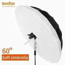 "Godox Umbrella 60"" 150cm Black White Reflective Umbrella + Large Diffuser Cover"