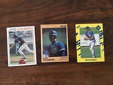 Ryne Sandberg Assorted Lot Of 3 Rare Cards