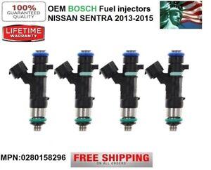 SET/ 4 OEM Bosch Fuel Injectors for 2013-2015 Nissan Sentra 1.8L I4  0280158296