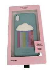 Kate Spade Rainbow Cloud Patch Phone Case for iPhone Xs Max Snap On Case
