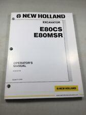 New Holland E80CS, E80MSR Excavator Operators Manual