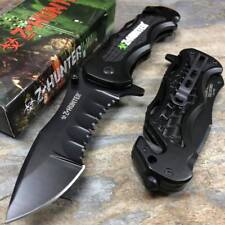 Z-Hunter ZOMBIE Killer Serrated Blade Tactical Rescue Pocket Knife ZB-018BK