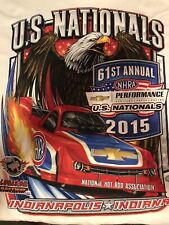NHRA DRAG RACING 2015 US NATIONALS  T- SHIRT  SIZE 2X