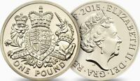 2015 Royal Arms  £1 One Pound Coin Uncirculated - Fifth Portrait