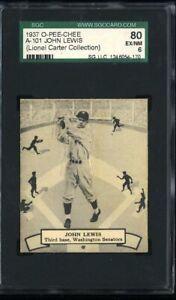 1937 O-Pee-Chee - OPC -#101 John Lewis - SGC 80/6 EX/NM - Chicago White Sox