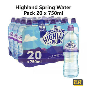 Highland Spring Still  Water Sports Cap 20 x 750ml