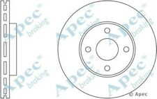 1x OE Quality Replacement Front Axle Apec Vented Brake Disc 4 Stud 278mm - Pair