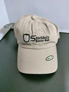 Stockdale Junior Golf Cap SMALL FIT Hook Loop Closure Tan 100% Cotton NOSWT