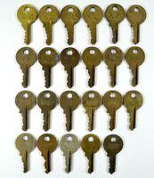 LOT of 22 Vtg Antique MASTER Lock Pad Lock Keys Old Logo Cut