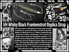 """Frankenstrat """"Eruption '78"""" and/or """"Shark"""" leather/stud/chain replica strap"""