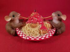 "Charming Tails ""We've Got Pastabilities"" Figurine Fitz & Floyd 89/289 Mice"